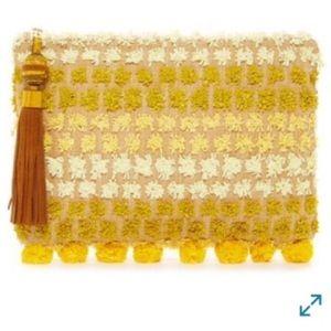 Sam Edelman BOHO straw clutch NWT